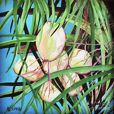 Wall Art - Painting - Coconuts by Raul Alsina