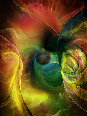 Abstract Digital Art - Cocooned by Georgiana Romanovna