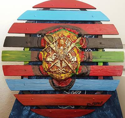Mixed Media - Code Of Arms by Darrell Black