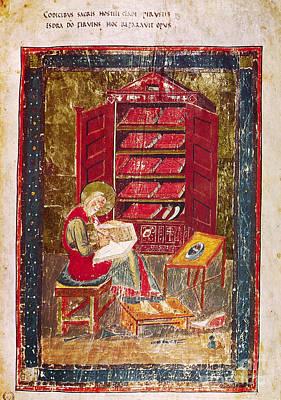 Northumbrian Photograph - Codex Amiatinus: Ezra by Granger