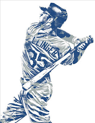 Los Angeles Dodgers Mixed Media - Cody Bellinger Los Angeles Dodgers Pixel Art 10 by Joe Hamilton