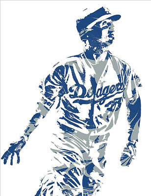 Los Angeles Dodgers Mixed Media - Cody Bellinger Los Angeles Dodgers Pixel Art 20 by Joe Hamilton