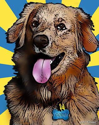 Golden Retriever Pop Art Photograph - Cody by Bibi Romer