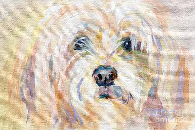 Lavendar Painting - Cody Dog by Kimberly Santini