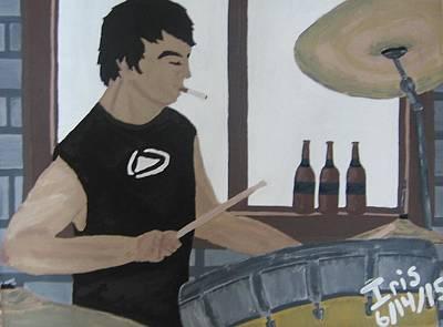 Drum Set Painting - Cody Ray by Iris Ray
