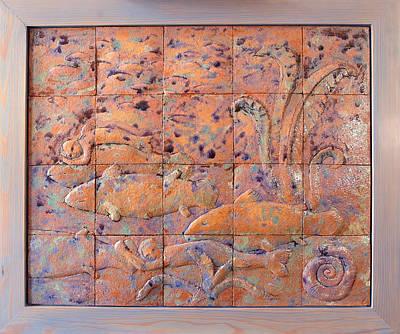 Coelacanths Art Print by Raimonda Jatkeviciute-Kasparaviciene
