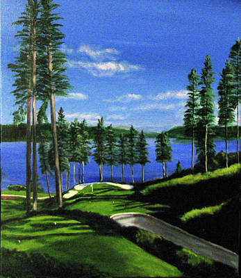 Painting - Coeur-d'alene Resort by Bill Houghton