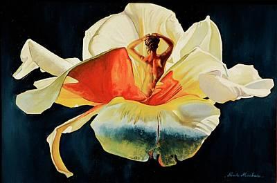 Nu Painting - Coeur De Femme by Nicole MARBAISE