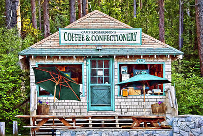 Photograph - Coffe And Confectionery by Maria Coulson