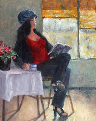 Painting - Coffee Shop Girl by Jill Musser