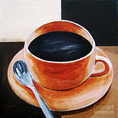 Coffee Painting - Coffee 1 by Christine Huwer