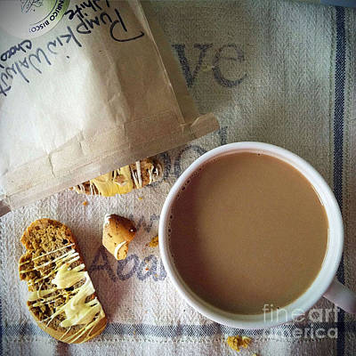 Photograph - Coffee And Biscotti by Maureen Cavanaugh Berry