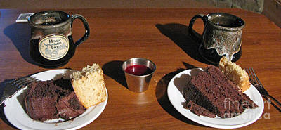 Photograph - Coffee And Chocolate Cake. Mountain House Inn by Ausra Huntington nee Paulauskaite