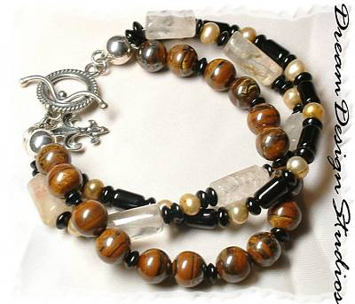 Sterling Silver Bracelet Jewelry - Coffee And Cream  by Donna  Phitides