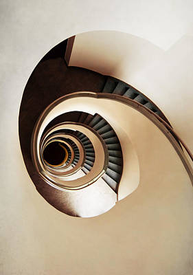 Coffee And Milk Spiral Staircase Art Print by Jaroslaw Blaminsky