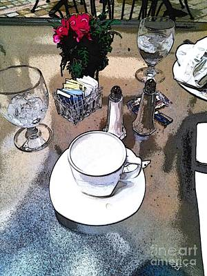 Photograph - Coffee At Lunch by Dave Luebbert