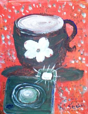 Folk Art Painting - Coffee Au Lait To Awaken The Moment And My Camera To Freeze It In Time by Seaux-N-Seau Soileau