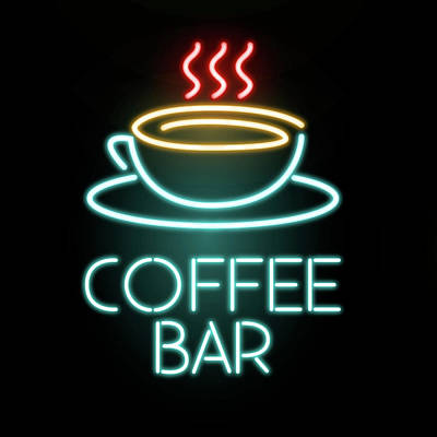 Mixed Media - Coffee Bar Neon by Gina Dsgn