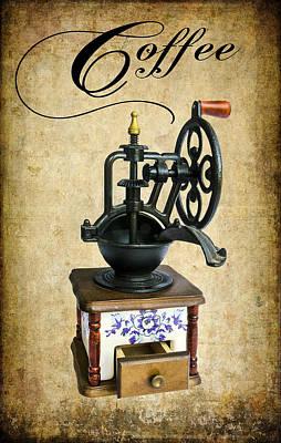 Old Grinders Digital Art - Coffee Bean Grinder by Daniel Hagerman