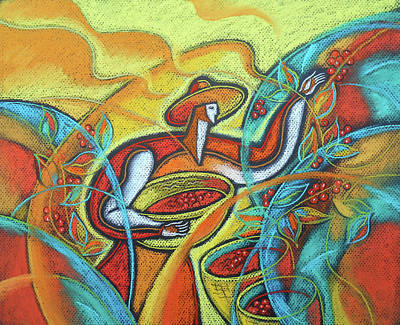 Coffee Bean Harvest Art Print