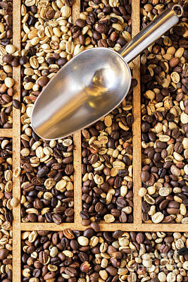 Photograph - Coffee Beans 06 by Rick Piper Photography