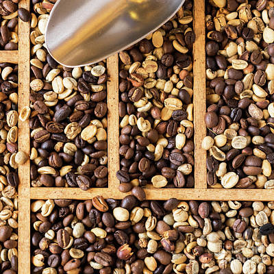 Photograph - Coffee Beans 09 by Rick Piper Photography