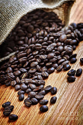 Textile Photograph - Coffee Beans by Elena Elisseeva