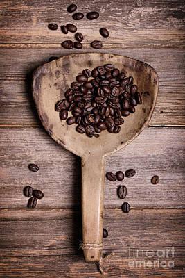 Coffee Beans In Antique Scoop. Art Print by Jane Rix