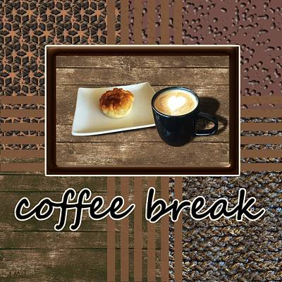 Photograph - Coffee Break - Coffee Art by Anastasiya Malakhova