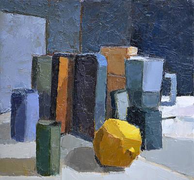 Boxes Painting - Coffee Break by Jeremy Annett