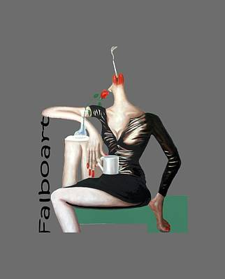 Coffee Break T-shirt Art Print by Anthony Falbo