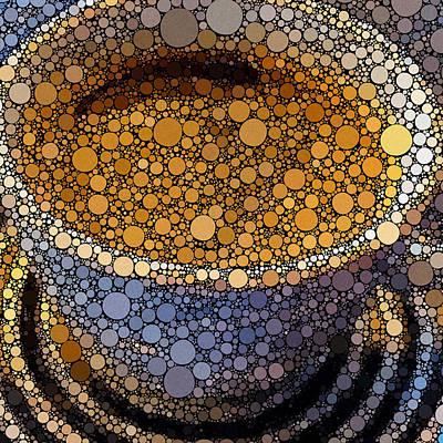 Digital Art - Coffee Bubles by Yury Malkov