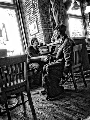Photograph - Coffee Cafe Patron by David Ralph Johnson