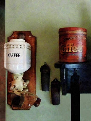 Coffee Grinder Photograph - Coffee Can And Coffee Grinder by Susan Savad