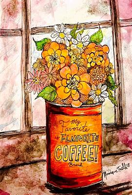 Painting - Coffee Can Bouquet  by Monique Faella