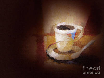 Coffee Painting - Coffee Canvas by Lutz Baar
