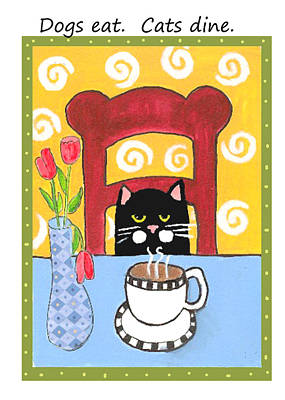 Painting - Coffee Cat by Christine Quimby