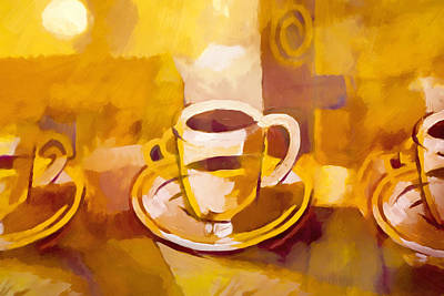 Painting - Coffee Coming Up by Lutz Baar