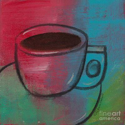 Painting - Coffee Contempo Retro by Robin Maria Pedrero