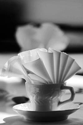Photograph - Coffee Cup Black And White by Jill Reger
