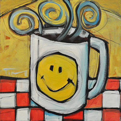 Tim Painting - Coffee Cup One by Tim Nyberg