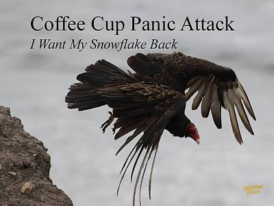 Photograph - Coffee Cup Panic by Gary Canant