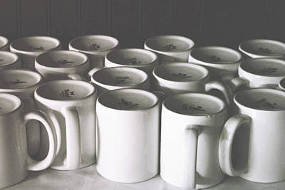 Coffee Cups- By Linda Woods Art Print by Linda Woods