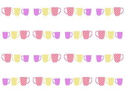 Digital Art - Coffee Cups by Kathleen Sartoris