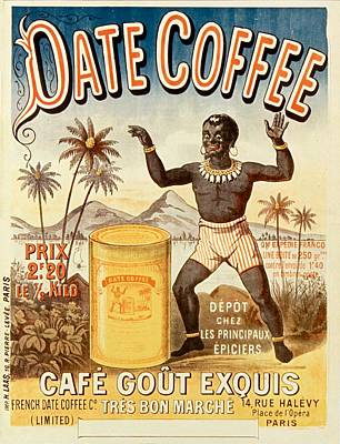 Airport Maps - Coffee - Delicious - Old Poster - Vintage - Wall Art - Art Print - Palmtree - Black Man - Box by Art Makes Happy