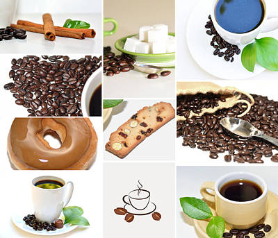 Photograph - Coffee Display Collage by Serena King
