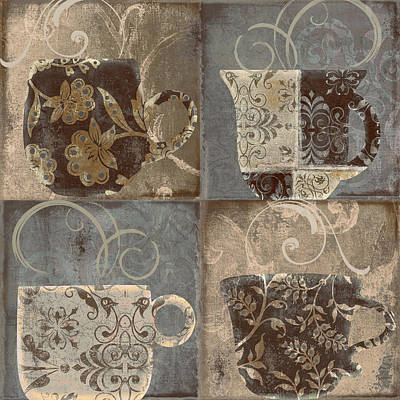 Latte Painting - Coffee Flavors IIi by Mindy Sommers
