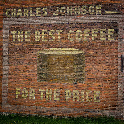 Small Town Life Photograph - Coffee Ghost Sign by Paul Freidlund