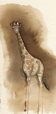 Painting - Coffee Giraffe by Jackie Little Miller