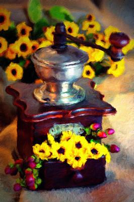 Mixed Media - Coffee Grinder At Dusk by Georgiana Romanovna